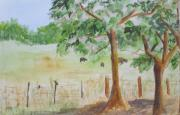 Cottonwood Paintings - Afternoon on the Farm 2 by Vicki  Housel