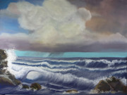 Deep Pastels - Afternoon Squall by James Geddes
