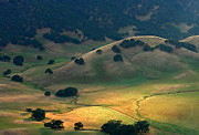 California Hills Posters - Afternoon Sunlight On Round Valley Poster by Marc Crumpler