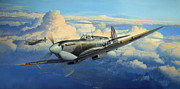 Battle Of Britain Art Posters - Afternoon Sweep Poster by Steven Heyen