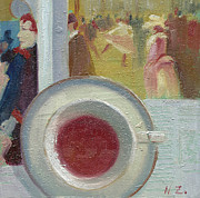 Henri De Toulouse-lautrec Paintings - Afternoon Tea Time no.37 by Ni Zhu