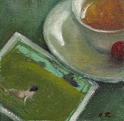 Teapot Paintings - Afternoon Tea Time no.41 by Ni Zhu