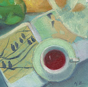 Teapot Paintings - Afternoon Tea Time no.50 by Ni Zhu