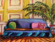 Interior Scene Pastels Metal Prints - Against a Yellow Wall Metal Print by John  Williams