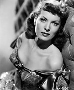 Bare Shoulder Photo Prints - Against All Flags, Maureen Ohara, 1952 Print by Everett