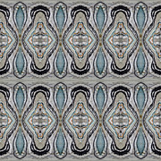 Sue Duda Digital Art Posters - Agate-38E border tiled Poster by Sue Duda