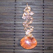Autumn Jewelry - Agate And Silver Pendant by Chris Calentine