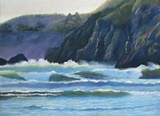 Surf Pastels - Agate Beach Surf by Boyd Miller