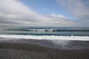 Agate Beach Surf Print by Michael Picco