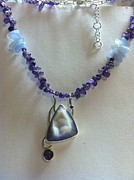 Original Design Jewelry - Agate Drusy Pendant by Beverly Fox
