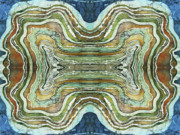 Unique Tapestries - Textiles Framed Prints - Agate Inspiration - 24A Framed Print by Sue Duda