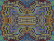 Batiks Tapestries - Textiles - Agate Inspiration - 24C  by Sue Duda