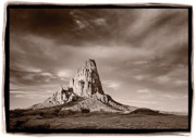 Green Light Photos - Agatha Peak Near Monument Valley by Steve Gadomski