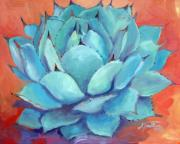 Desert Landscape Paintings - Agave 3 by Athena  Mantle