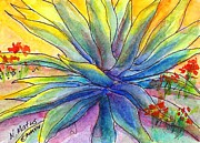 Green Paintings - Agave by Nancy Matus