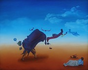 Surrealism Painting Acrylic Prints - Age 22 Acrylic Print by Richard    J Thorpe