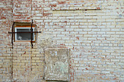 Creams Prints - Aged Brick Wall with Character Print by Nikki Marie Smith