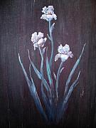 Painted Door Prints - Aged Iris Print by The Stone Age
