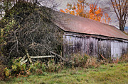 Rustic Scenes Photos - Aged Just Right - Jaffrey New Hampshire Barn  by Thomas Schoeller