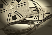 Amateur Prints - Aged Vintage 8mm Film Movie Print by Gualtiero Boffi
