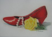 Shoe Paintings - Ageless by Elizabeth Cameron