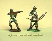 Miniatures Art - Agencourt Lancastrian household by Valiant Knight
