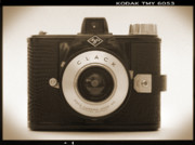 Sepia Tone Digital Art - Agfa Clack Camera by Mike McGlothlen