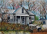 Old Age Painting Originals - Aging in West Virginia by Gerald Carpenter