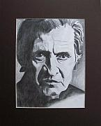 Husband Drawings Posters - Aging Johnny Cash Poster by Mikayla Henderson
