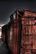 Caboose Photo Prints - Aging Red Caboose Print by Patrick  Flynn