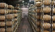 Aging Framed Prints - Aging Wine In Wooden Casks Framed Print by Noam Armonn
