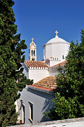 Town Art - Agios Nikolaos church in Spetses town by George Atsametakis