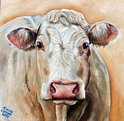 Moo Moo Paintings - Agnas by Laura Carey