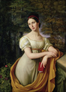 Girl Paintings - Agnes Rauch by Wilhelm Schadow