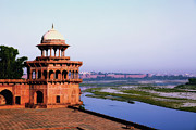 Mahal Digital Art Posters - Agra Fort Poster by Jack Downes