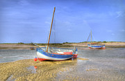 Norfolk; Prints - Aground Print by Chris Thaxter