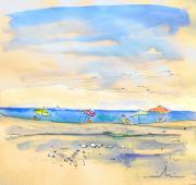 Travel Sketch Prints - Agua Amarga 01 Print by Miki De Goodaboom
