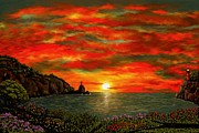 Ave Hurley - ah-001-005 Red Sunset