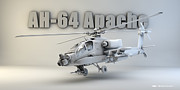 Cinema 4d Prints - AH-64 Apache Print by Dale Jackson