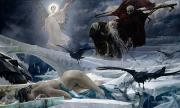 Angel Painting Metal Prints - Ahasuerus at the End of the World Metal Print by Adolph Hiremy Hirschl