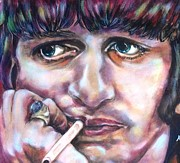 Ringo Starr Paintings - Ahhhh Ringo by Misty Smith