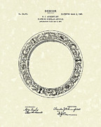 Dinner Drawings - Ahrenfeldt Plate Design 1907 Patent Art by Prior Art Design