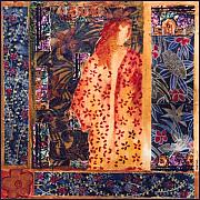 Female Tapestries - Textiles Originals - Ai-jo Island Ii by Leslie Marcus