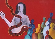 Aids Paintings - Aids by Mohan Mishra