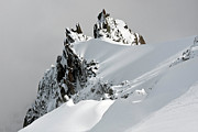 Winter Landscape Photos - Aiguille Du Midi by Ellen van Bodegom