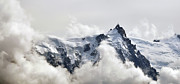 Rhone Prints - Aiguille Du Midi Out Of Clouds Print by Thomas Pollin