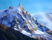 Midi Framed Prints - Aiguille du Midi Framed Print by Shiona Kennamer