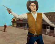John Wayne Paintings - Aint Gonna Be No Next Time by Patrick Kelly