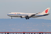 San Francisco Airport Posters - Air China Airlines Jet Airplane At San Francisco International Airport SFO . 7D12272 Poster by Wingsdomain Art and Photography
