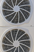Electric Fan Framed Prints - Air-conditioner rear fans Framed Print by Sami Sarkis